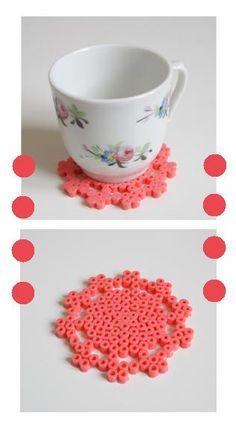 Les sous verres en perle Hama - perles à repasser : http://www.creactivites.com/229-perles-a-repasser