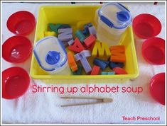 Stirring up alphabet soup by Teach Preschool