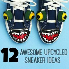 Love these 12 Upcycled Sneaker Ideas! So cute!