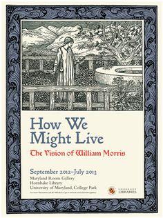William Morris Exhibit Poster