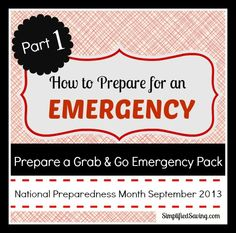 How to prepare a Grab & Go Emergency Pack