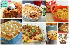 Lazy Girl Weekly Meal Plan. 7 Days of casseroles : )