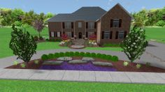 Circle drive ideas on pinterest driveways landscape for Half circle driveway design