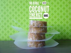 Easy No Bake Toasted Coconut Energy Bars