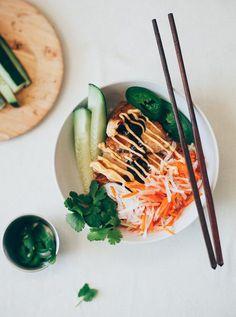 Lemongrass Chicken Bánh Mì Bowls