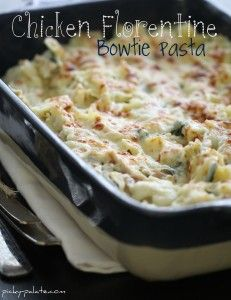 chicken Florentine bow tie pasta./ simple and yummy! will make again! (mal)