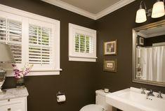 Brown/white bathroom