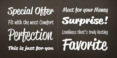 Reklame Script 50s type #design