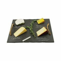 Swoozies - large square slate cheese board