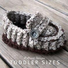 CROCHET PATTERN Modern Toddler Loafers