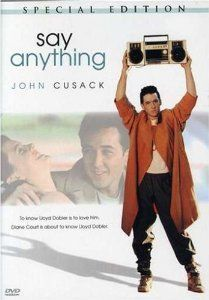 Say Anything (1989) with John Cusack, Ione Skye, and John Mahoney. (Image from Amazon)