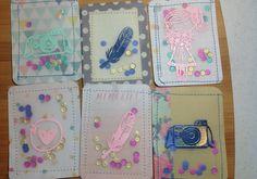 card idea, pl card, shaker card, card bubbleshak