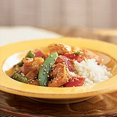 Superfast Stir-Fries and Sautés | Shrimp and Snow Pea Stir-Fry | CookingLight.com