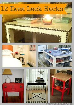 Ikea Lack Table Hacks {12 Inspiring DIY Projects} #diy