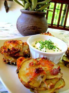 Crispy, Parmesan Potato Stacks