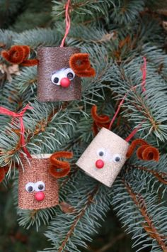 toilet roll reindeer / easy christmas crafts - happy hooligans