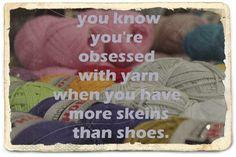 Yes, I'm obsessed yarn!!!