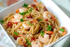 Shrimp Linguini with Garlic and Sun-Dried Tomatoes