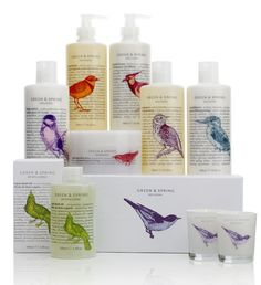 """A new luxury brand designed by Pearlfisher.  """"The brief was to work with A Curious Group of Hotels (which includes Cowley Manor and its C.Side spa in the Cotswolds, L'Hotel and Le Restaurant on the Left Bank in Paris, and The Corner Club, a private members' club in the centre of Oxford) to launch a new retail beauty range.  The GREEN & SPRING collection is a new, natural bath and body range of handmade products inspired by the idyllic English countryside."""