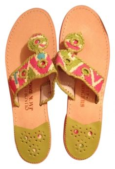 Jack Rogers Navajo Pink/green/turquoise Sandals