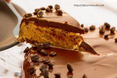 Frozen Mocha Cake with Chocolate Ganache Glaze