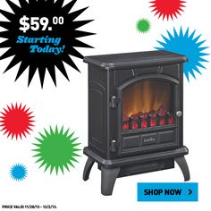 Warm up with Black Friday savings on this electric stove.  Shop all Lowe's deals online now!