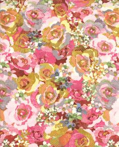 Moda Basic Grey Kissing Booth Packed Blooms Pink; this fabric would be gorgeous for any number of projects!