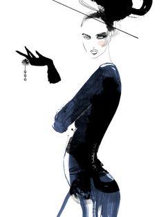 Blue Hour    Mette Boesgaard  #illustration