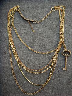 Layered Key Necklace