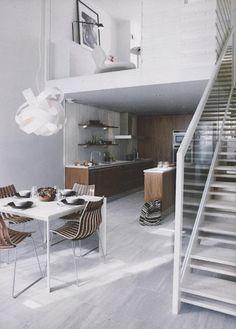 kitchens, interior, stair, mezzanin loft, mezzanine loft
