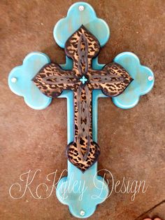 Hand painted wood cross