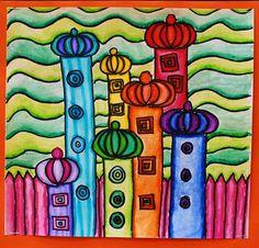 Hundertwasser Landscape Line Design