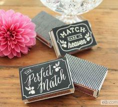 chalkboards, elli blog, wedding favors, chalkboard matchbox, match boxes