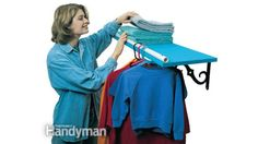 Turn a Shelf into a Clothes Hanging Rack with PVC Pipe