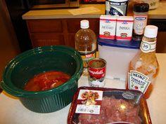 Crock Pot Recipe - BBQ Beef Stew served over Egg Noodles - a family favorite!