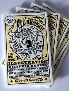 Beautiful Examples of Letterpress Business Card Designs