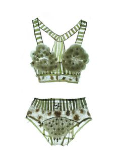 The dandelion lingerie that exists only as an art/high fashun concept. Never 4get.