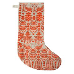 Christmas Stocking – Red/Natural