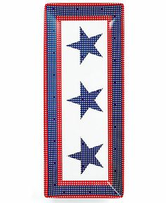 Martha Stewart Collection Star-Spangled Melamine Rectangular Serving Tray