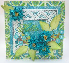card by Lori Williams... love the colors!
