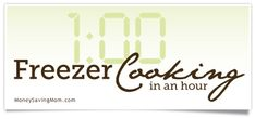 Different recipes for freezer cooking.