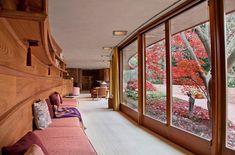Interior - Frank Lloyd Wright's Kenneth Laurent House, Rockford, Illinois designed between 1949 - 1952