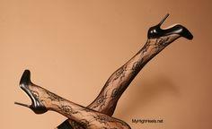 Black pumps and stockings #shoes #heels #highheels #fashion #women #woman #legs #feet #stiletto