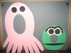"""""""Oo"""" Letter of the week art project art project, letter, octopus"""