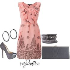 Pink and Grey - Polyvore