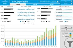 Business Intelligence data dashboard by Arcplan