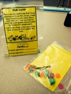 Sending home math manipulatives with kids - Lorys Page