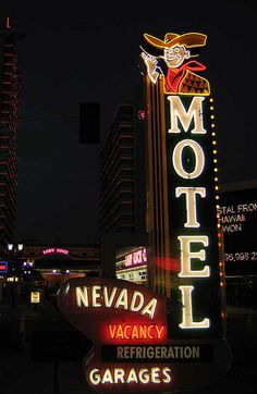 Nevada Motel Neon Sign Las Vegas