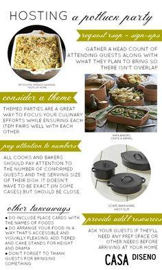 The Art of a Potluck Dinner #potluck #partyideas #hosting #entertaining