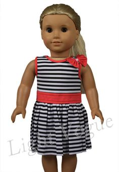 i, dress skirt for American Girl-18  Doll Clothes cute Christmas love A033